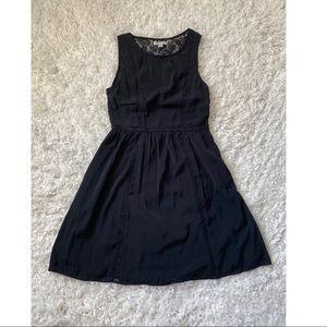 American Eagle Lace Back Black Dress Size 2